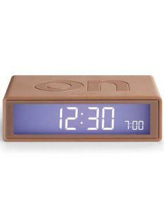 Lexon copper flip rubber alarm clock.