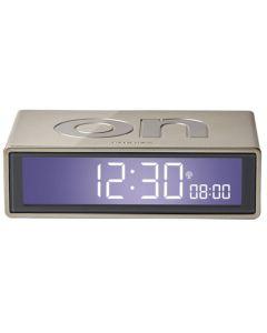 This is the Lexon Flip+ Gold Alarm Clock.