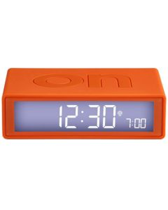 This is the Lexon Flip+ Orange Alarm Clock.