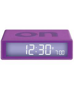 This is the Lexon Flip+ Purple Alarm Clock.