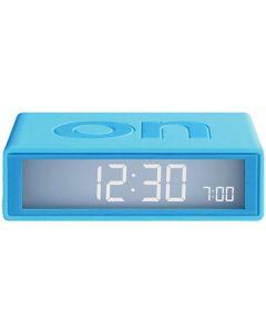 This is the Lexon Flip+ Turquoise Alarm Clock.