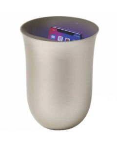 This is the Lexon Wireless Oblio Gold Charging Station with Built-In UV Sanitiser.