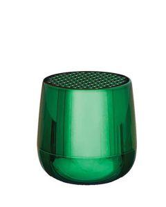 This is the Lexon Metallic Green Mino+ Bluetooth Speaker.