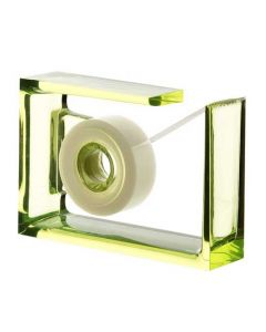 This lime green tape dispenser has been designed by Lexon.