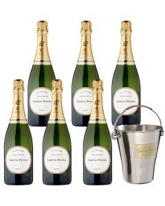 Laurent-Perrier Bucket and 6x 75cl Brut Champagne Bottles.