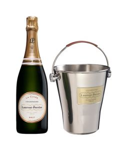 Laurent-Perrier 75cl La Cuvee Champagne and Ice Bucket Gift Set.