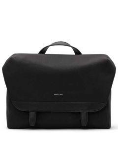 This is the Matt & Nat Black Canvas Collection MARTEL Messenger Bag.
