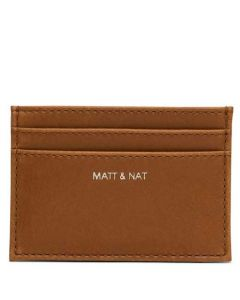 This is the Matt & Nat chili matte nickel Vintage Collection MAX Card Holder.