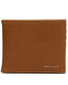 Matt & Nat Chili Matte Nickel Vintage Collection RUBBEN Wallet.