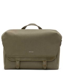 This is the Matt & Nat Olive Canvas Collection MARTEL Messenger Bag.