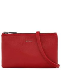 This is the Mat & Nat RED Dwell Collection Triplet Cross Body Bag.