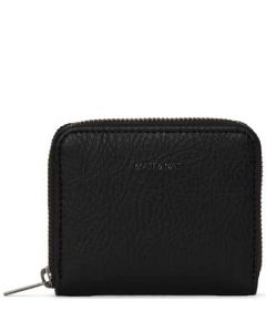 This is the Matt & Nat Black Dwell Collection RUE Small Zip Wallet.
