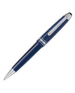 The Montblanc Le Petit Prince midsize blue Meisterstück ballpoint pen.