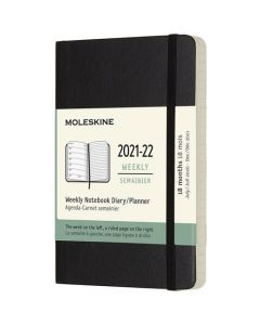 This is the Moleskine Pocket 18-Month Soft Cover Black 2021-2022 Weekly Planner.