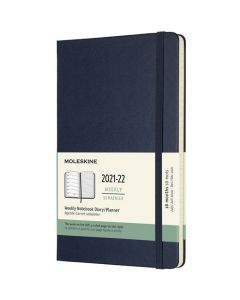 A5 18-Month Hard Cover Sapphire Blue 2021-2022 Weekly Planner