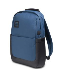 This is the Moleskine ID Go Boreal Blue Backpack.