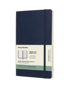 A5 18-Month Soft Cover Sapphire Blue 2021-2022 Weekly Planner