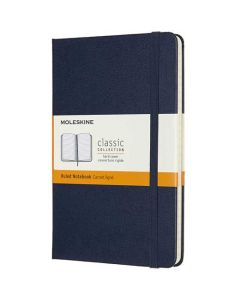 Medium Hard Cover Navy Classic Lined Notebook