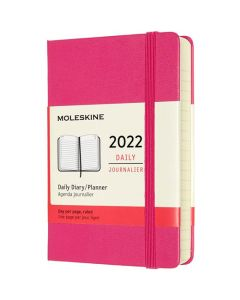This is the Moleskine Pocket 12-Month Hard Cover Pink 2022 Daily Planner.