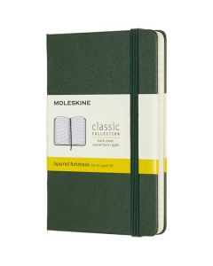Pocket Hard Cover Green Squared Notebook