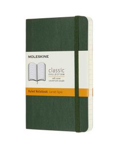 Pocket Soft Cover Green Lined Notebook