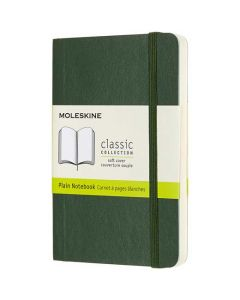Pocket Soft Cover Green Plain Notebook