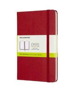 Medium Hard Cover Red Classic Plain Notebook