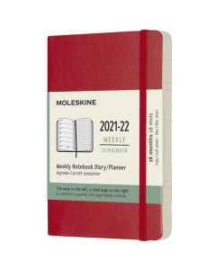 Pocket 18-Month Soft Cover Scarlet Red 2021-2022 Weekly Planner