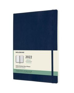 A4 12-Month Soft Cover Sapphire Blue 2022 Weekly Planner