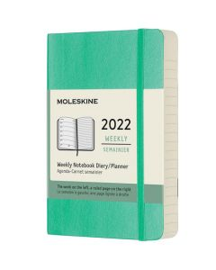 Pocket 12-Month Soft Cover Ice Green 2022 Weekly Planner