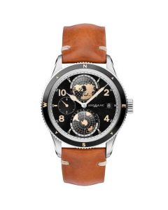 This is the Montblanc 1858 Geosphere Tan Watch.