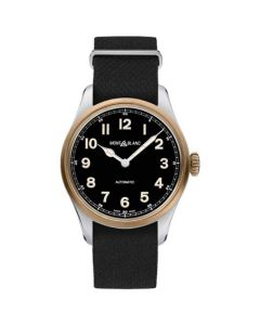 This black watch has been designed by Montblanc.