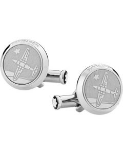 These are the Montblanc Meisterstück Le Petit Prince Aeroplane Cufflinks.