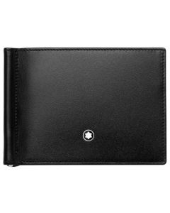 The Montblanc black 6CC wallet with money clip in the Meisterstück collection.