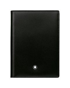 The Montblanc black smooth leather ID window wallet.