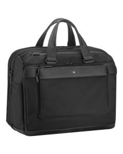 The Montblanc black nylon 48h holdall in the NightFlight collection.