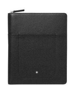 This is the Montblanc Black Meisterstück Soft Grain Notebook Holder with Pocket.