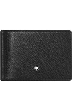 This is the Montblanc Black Meisterstück Soft Grain 6CC Wallet with Money Clip.