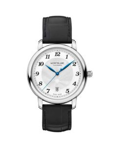 This black Montblanc watch is part of their star legacy collection.