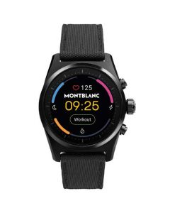 This is the Montblanc Summit Lite Black Aluminium & Fabric Smartwatch.