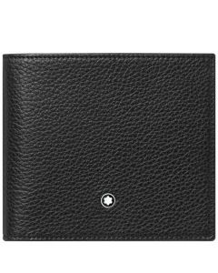This is the Montblanc Black Meisterstück Soft Grain 4CC Wallet with Coin Case.