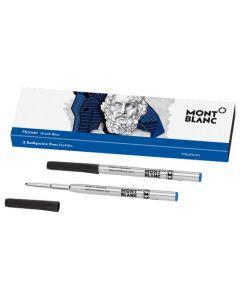 The Montblanc Greek blue Homer ballpoint pen refills.