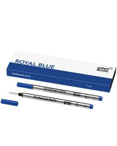 This is the Montblanc Royal Blue Rollerball Refill (F).