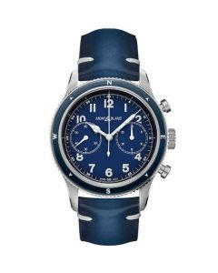 This is the Montblanc 1858 Automatic Chronograph Blue Sfumato Watch.