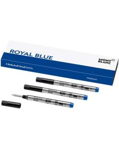 These are the Montblanc Royal Blue Small Rollerball Pen Refills 3x1 (M).
