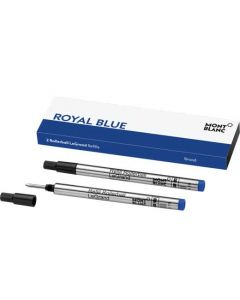 These are the Montblanc Royal Blue Rollerball LeGrand Refill in the size broad.