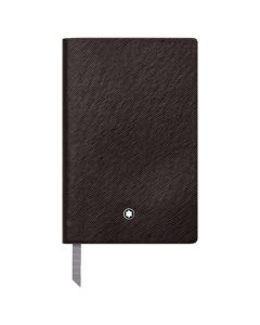 The Montblanc tobacco leather A7 lined notebook.