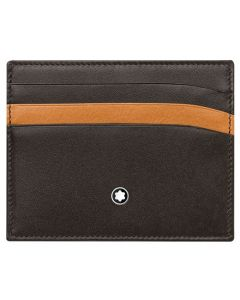 The Montblanc brown smooth leather 6CC card holder.