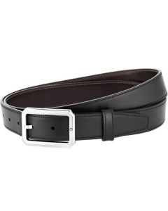 This is the Montblanc Business Line Octagonal Polished Palladium Pin Buckle Reversible Black/Brown Belt.