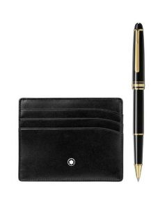 This is the Montblanc Meisterstück Classique Gold Plated Rollerball and Meisterstück 6CC Pocket.